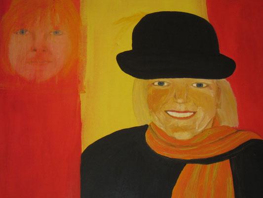 Selbstporträt mit Hut