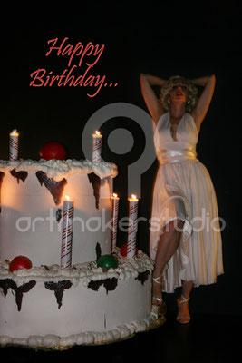 Gigantismo de tarta de cumpleaños