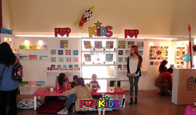 Stand y Talleres POP KIDS Talleres de Escultura para niños y Face Painting o Pintacaras