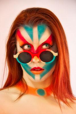 Face Painting para Flamingo Glasses mimetización Face paint Madrid 2021