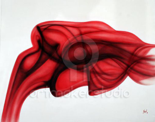"Cuadro original ""Red Smoke"" por Nasel"