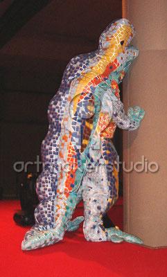 """VESTUARIO DRAGON DE GAUDI Barcelona Evento Rímini Italia  """"artmakerstudio"""""""
