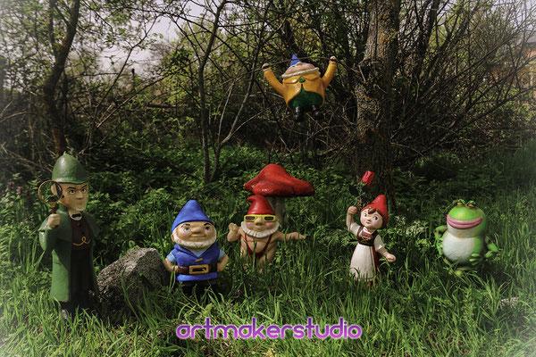 Sherlock Gnomes Sculptures Movie Premier Madrid Spain @gnomes @sherlockgnomes