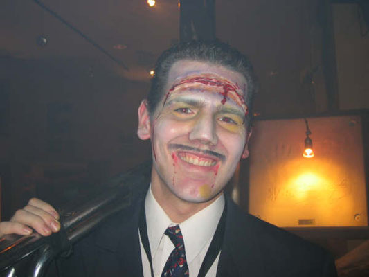 dead aviator halloween make up