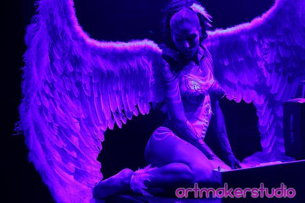 """ALAS de Ángel Y BODY PAINT 15 Aniversario El Ángel Caído de Avalanch Hard Rock  """"artmakerstudio"""""""