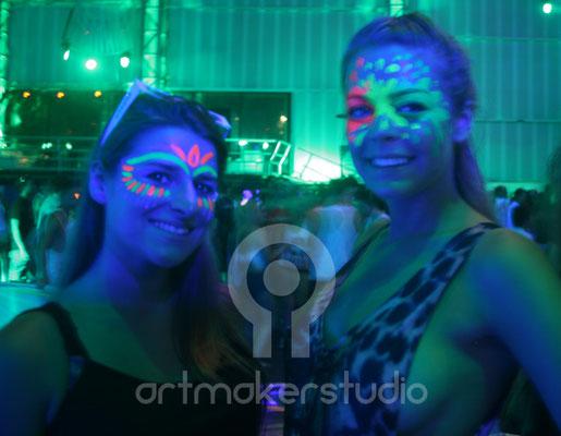 Maquillaje facial flúor NEONSPLASH Ibiza