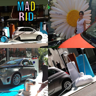 Decoración y Ficticios para Evento FIAT MADRID  Junio 2018