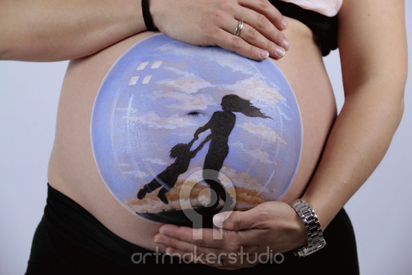 BELLY PAINTING ARTMAKERSTUDIO - BURBUJA Madrid