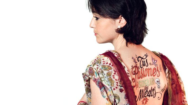Fake Tattoo TUS PASIONES SUPERAN LOS MIEDOS para campaña contra el Cáncer 2016