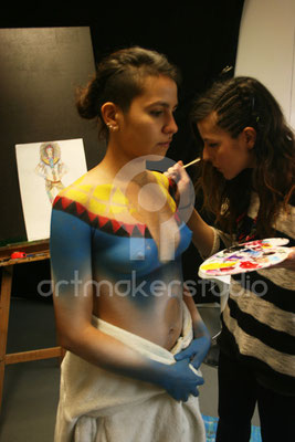 body painting en proceso