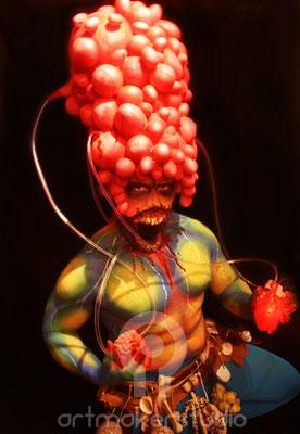 Body Painting Alien, Halloween 2014 Discoteca Titos Palma de Mallorca