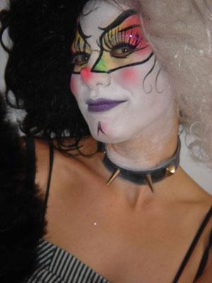 maquillaje facial circo