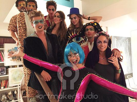 maquillajes faciales para fiesta particular de Halloween en Madrid