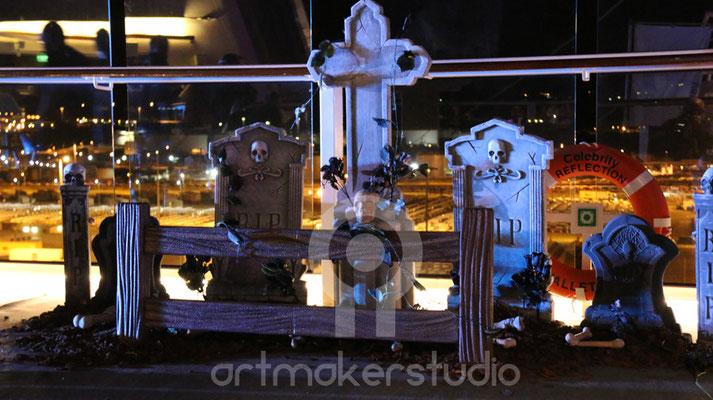 Cementerio Pirata . Fiesta Pirata para Crucero Roma-Barcelona