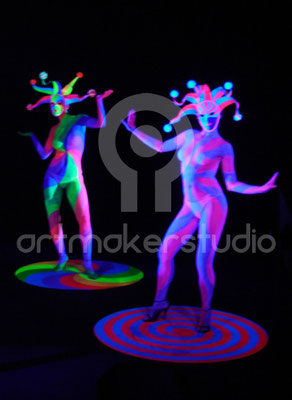 Body Paint Fluor. Para videos promoción Ballantine´s Black Session 2006