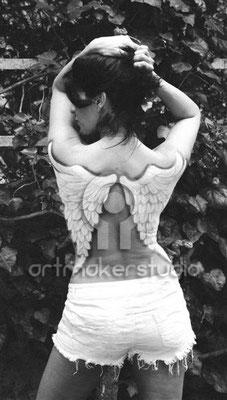 alas en la espalda Body Paint
