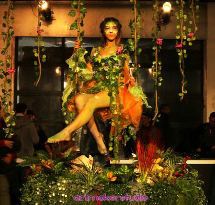 Body Painting Vestuario Hada y Ambientación florar para Canon Full Frame Festival Madrid 2018