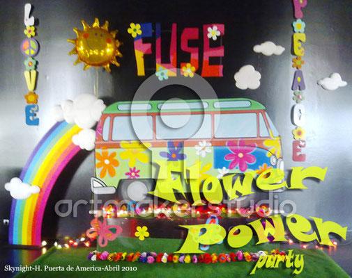 FLOWER POWER escenografía y elementos de decoración