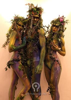 maquillajes corporales naturaleza