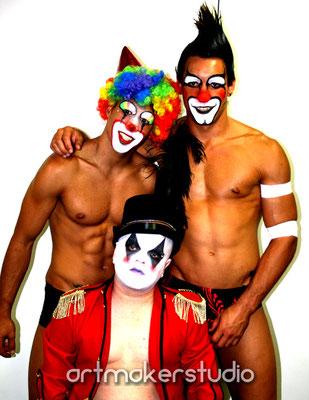maquillajes faciales de circo para Gay Parade Madrid