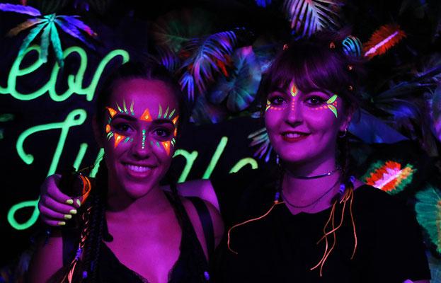 """Maquillajes faciales fluor. Festival """"Summer Story"""" Ciudad del Rock 2017"""