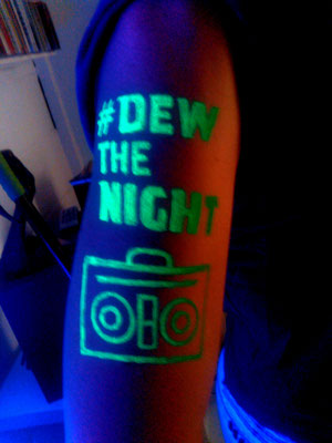 Fluor Body Paint Montain Dew Barcelona Beach Festival 2016