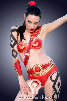 WARRIOR Body Painting para particular por ArtMakerStudio