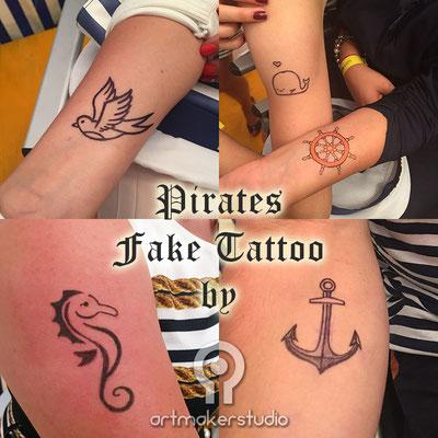 Tatuajes temporales Eventos Temáticos . Marineros. Old School