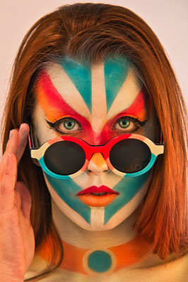 Face Painting Madrid Flamingo Sun Glasses 2021