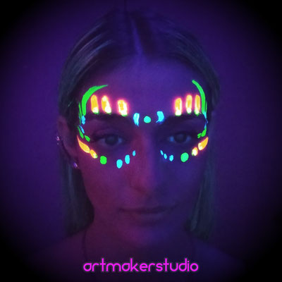 Maquillaje Fluorescente Madrid artmakerstudio