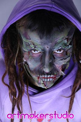 Halloween maquillaje y caracterización