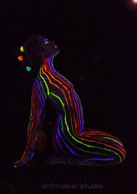 artmakerstudio Neon Lines Body Painting Madrid Sesiones de fotografía