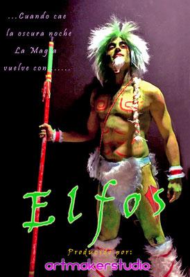 fiesta fluor temática elfos nocturnos