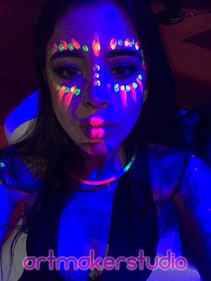 UV Make up. Artmakerstudio Madrid 2017
