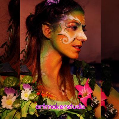 Body Painting Fairy Canon Evento Full Frame Festival