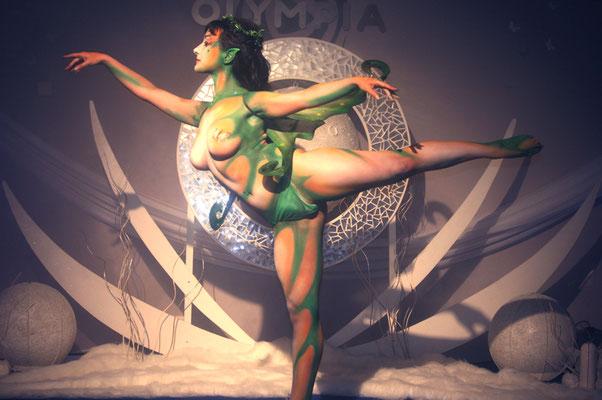 hada bailarina maquillaje en el cuerpo