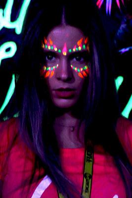 "Maquillaje tribal para chica. Festival ""Summer Story"" Ciudad del Rock 2017"