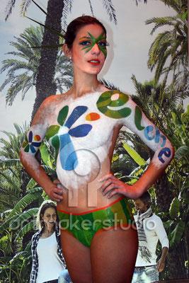 Body Painting para stand de Elche en FITUR 2012