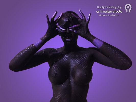 Body Paint Black & Purple