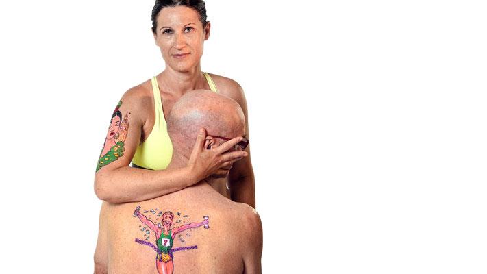 """Maquillaje/ Body Paint RUNNER para campaña """"Miedos y Pasiones...Nos Marca de por Vida"""" 2016"""