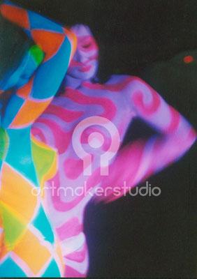 Body Painting fluor -Video promo Ballantine´s tour