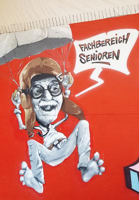 Graffiti Fachbereich Senioren der Landeshauptstadt Hannover am Ihmezentrum in Hannover