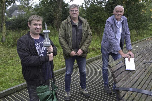Het meet- en regelteam van de ochtenden: Peter van Horzen, Jan Hoen en Lei Jacobs