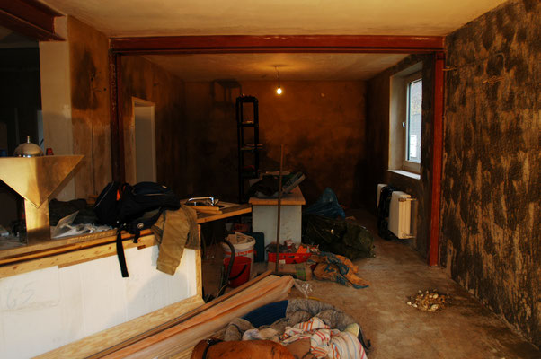 Winter 2007: Das Café wird ausgebaut