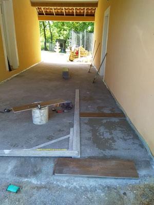 Préparation du sol pour pose carrelage à Venerque
