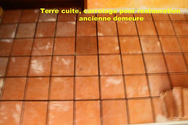 exemple de pose terre cuite pour une demeure ancienne près de Toulouse