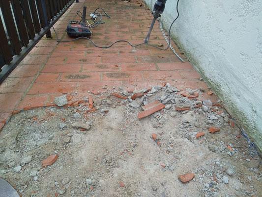 casser le carrelage au sol