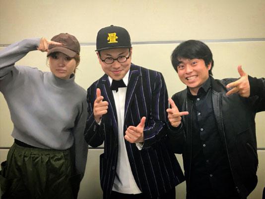 畳屋ラッパー出演 KBC 土曜の夜はSEXY 依布サラサ様・三澤澄也様