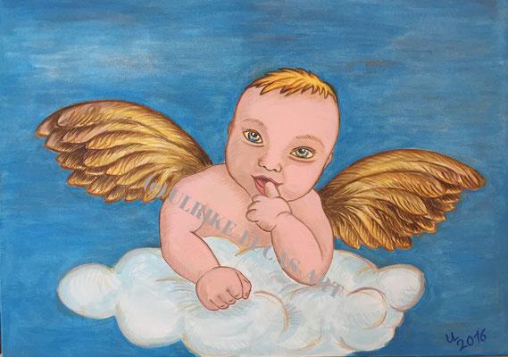 """""""Engel"""", 2016, Acryl auf Leinwand, 70 cm x 50 cm"""