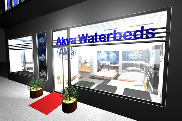 CAD Designstudie - Konzeptstore  Akva Waterbeds - Köln 2009